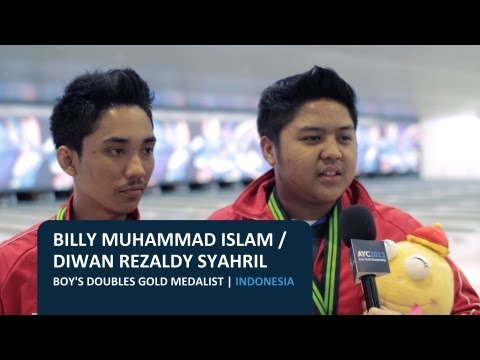 AYC2013: Boy's Doubles Gold Medal - Indonesia