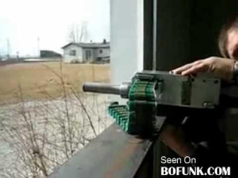 Homemade automatic machine gun