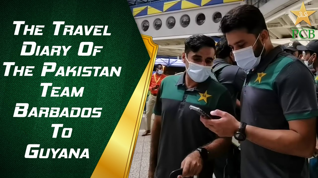The Travel Diary Of The Pakistan Team | Barbados To Guyana | PCB | MA2E