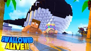 DONNY & LEAH ARE SWALLOWED ALIVE BY A GIANT KILLER WHALE || Minecraft Roleplay