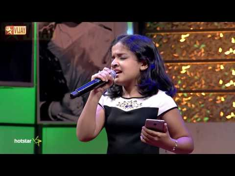 Super Singer Junior - Unnai Naan Santhithaen by Spoorthi