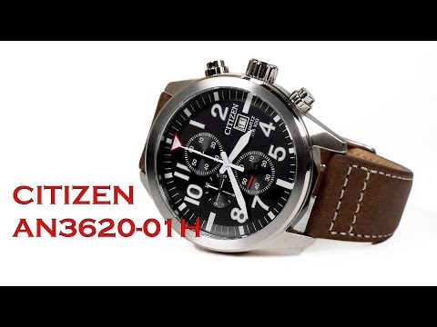 Citizen AN3620-01H 12 Hours Chronograph Brown Leather Watch