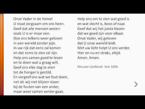 Onze Vader lied 1006 nw liedboek