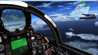 FSX Aerosoft F14 carrier ops and SU27 interception misson