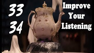 Learn English Via Movies #Beauty and The Beast #Listening exercises مراجعة الجميلة و الوحش 33/34