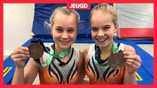 Eline en Valerie winnen medaille op WK trolinespringen