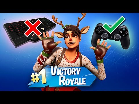 PC FORTNITE but with a CONTROLLER!!! (AIM ASSIST IS TOO OP)