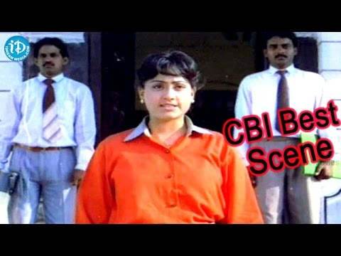 Police Lockup Movie - Vijayashanti Police Emotional Fire Scene