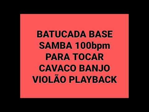 Batucada de samba 100 bpm para você tocar junto cavaco, banjo, violão etc.