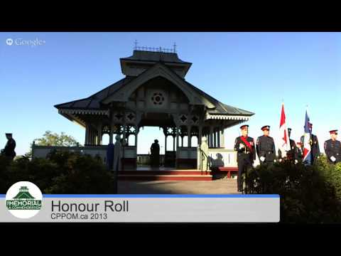 Reading of The Honour Roll at Memorial Pavilion