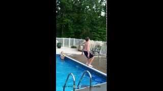 SloPro Backflip Into Pool