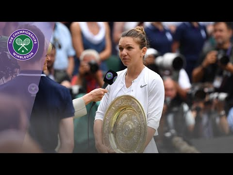 Simona Halep Wimbledon 2019 Winner's Speech