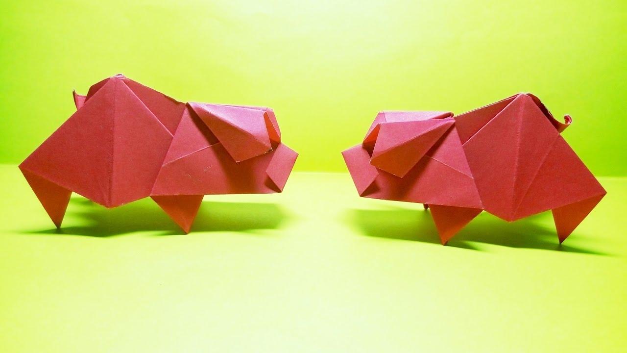 Origami Pig by Hideo Komatsu - YouTube - photo#26