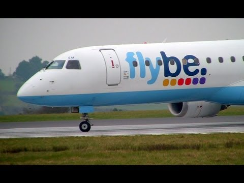 Flybe Embraer 195LR Takeoff From Ireland to Austria