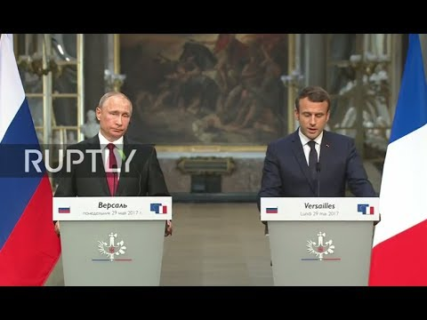 LIVE: Macron and Putin hold joint press conference in Versailles