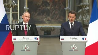 LIVE: Macron and Putin hold joint press conference in Versailles French President Emmanuel Macron and Russian President Vladimir Putin are holding a joint press conference in the Palace of Versailles, outside Paris, on ...
