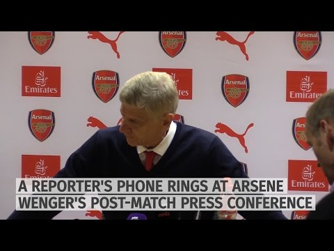 Arsene Wenger Gets Phone Call 'From Jose' - Funny Moment!