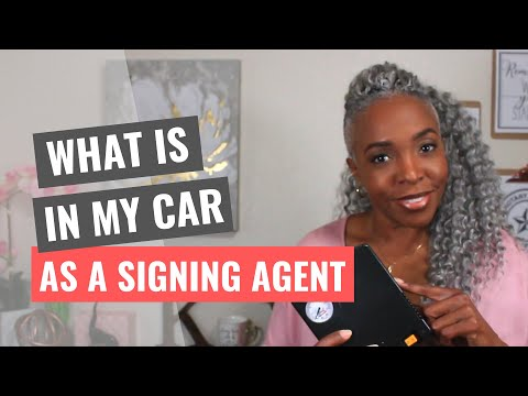 Whats In My Car As A Signing Agent
