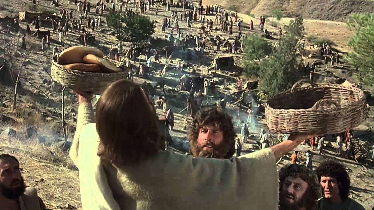 Image result for Jesus feeding the five thousand