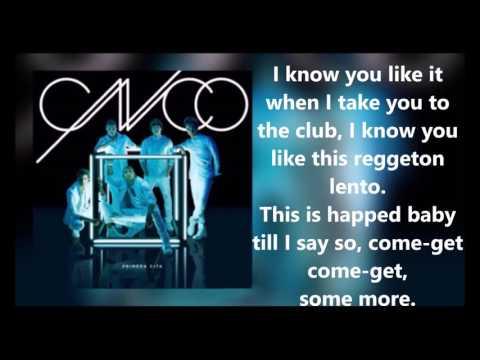 CNCO  Reggaet Lento Bailemos Lyric