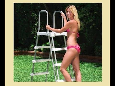 Лестница для каркасного бассейна  Сборка