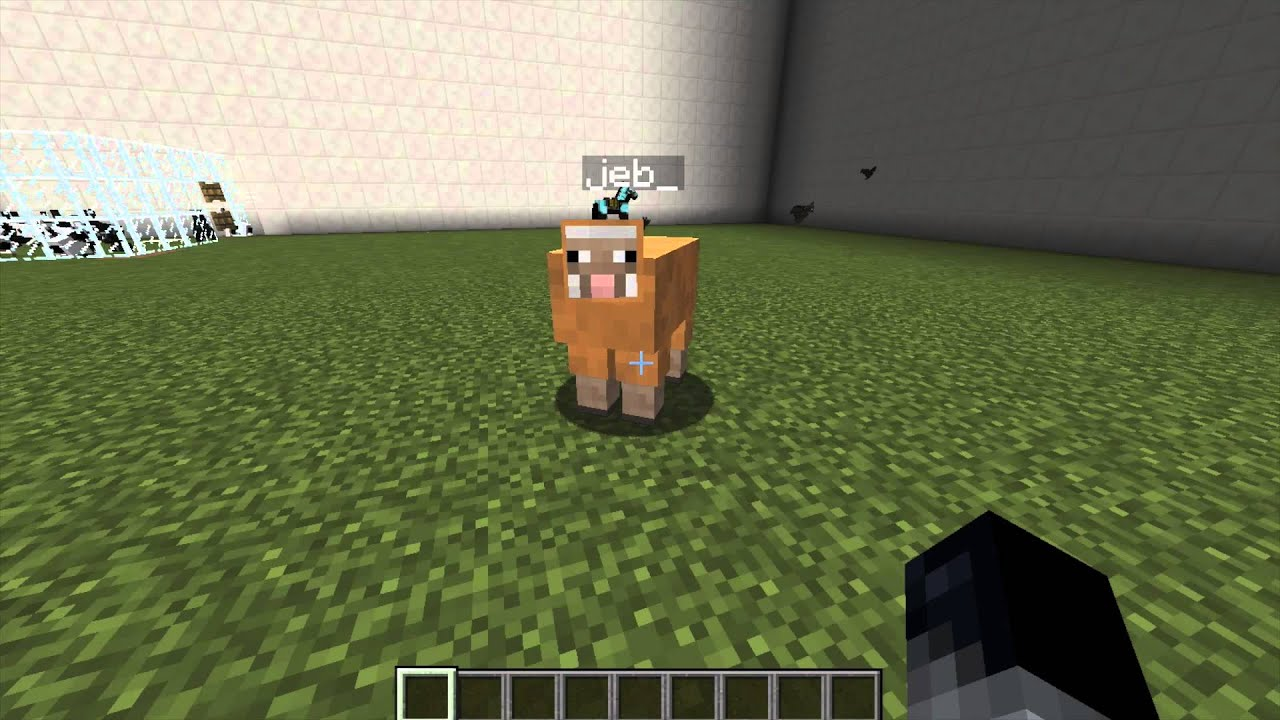 Minecraft Jeb Sheep Trick Youtube