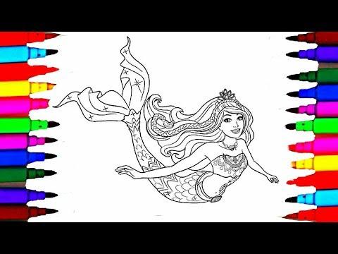 Barbie Dreamtopia Coloring Pages l Barbie Mermaid Drawing Pages to Color for Kids l Coloring Pages