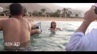 شاهد كيف تم تنفيذ المشهد الصعب لغرق نيللي كريم في مسلسل سقوط حر
