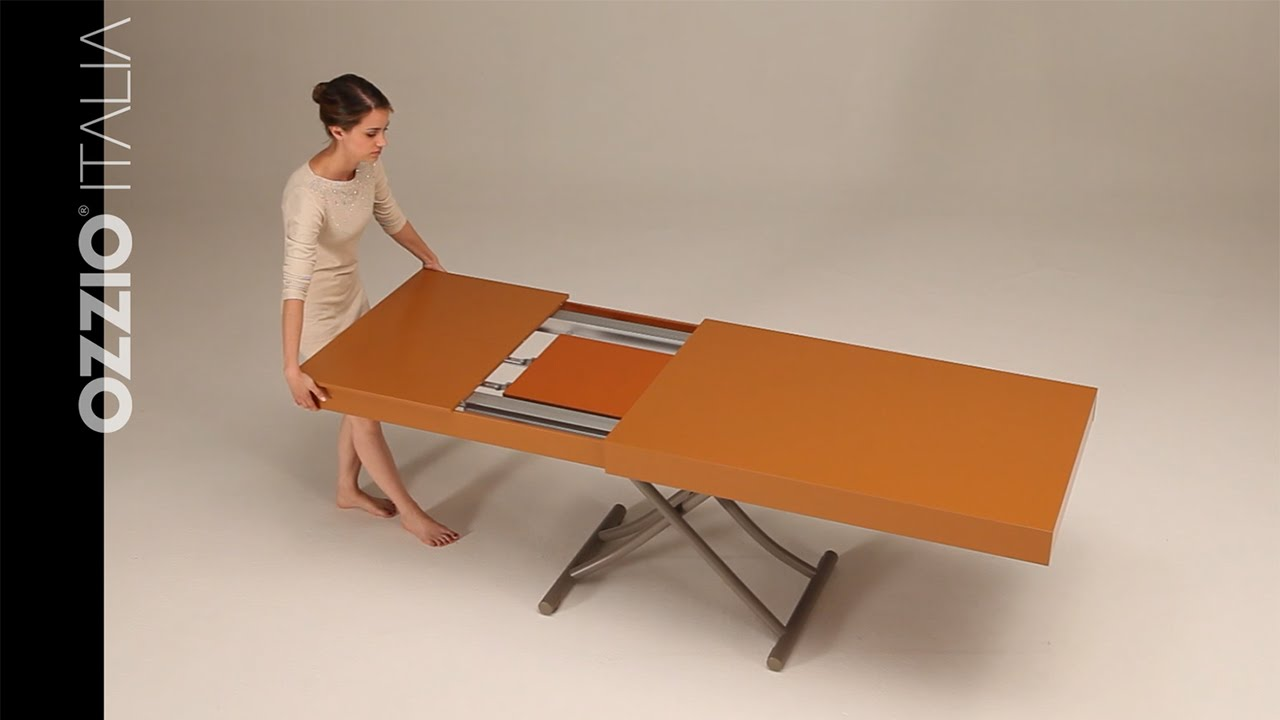 Expanding coffee table Newood by Ozzio Italia - space ...