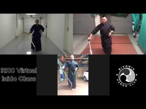 Virtual Iaido Training at Rivonia Kendo Club, Johannesburg, South Africa- 30 JUN 2020