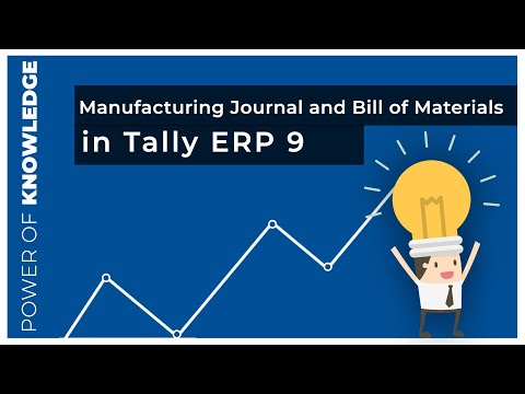 Inventory Management Manufacturing Journal and Bill of Materials II in  Tally Erp 9 0 Hindi
