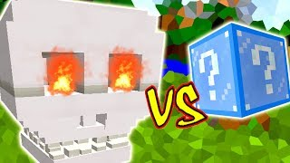 CAVEIRA DESTRUIDORA VS. LUCKY BLOCK FROZEN (MINECRAFT LUCKY BLOCK CHALLENGE SKULL)
