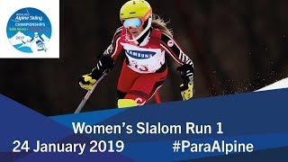 Women's Slalom Run 1 | 2019 World Para Alpine Skiing World Championships