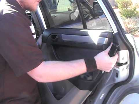 Removing Passenger Rear Door Panel 2004 4runner Youtube