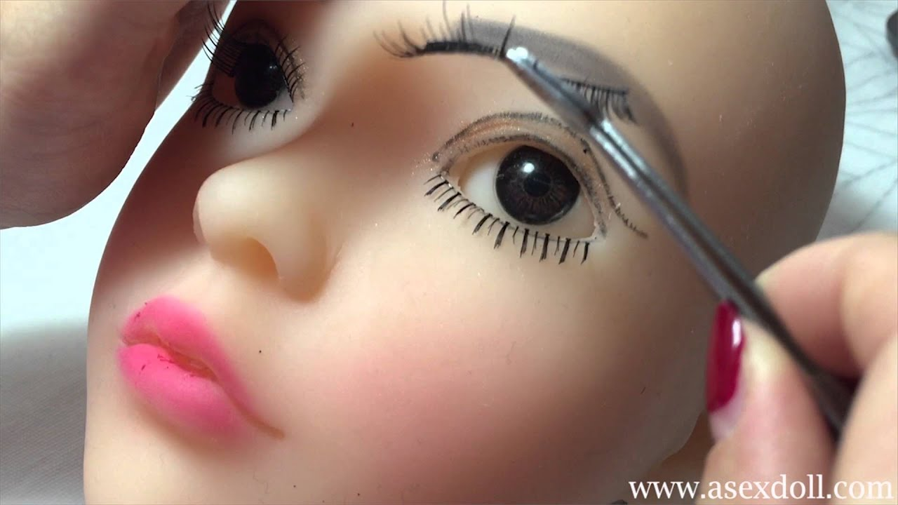 Makeup Tutorial For Doll How To Fix Eyelashes Youtube
