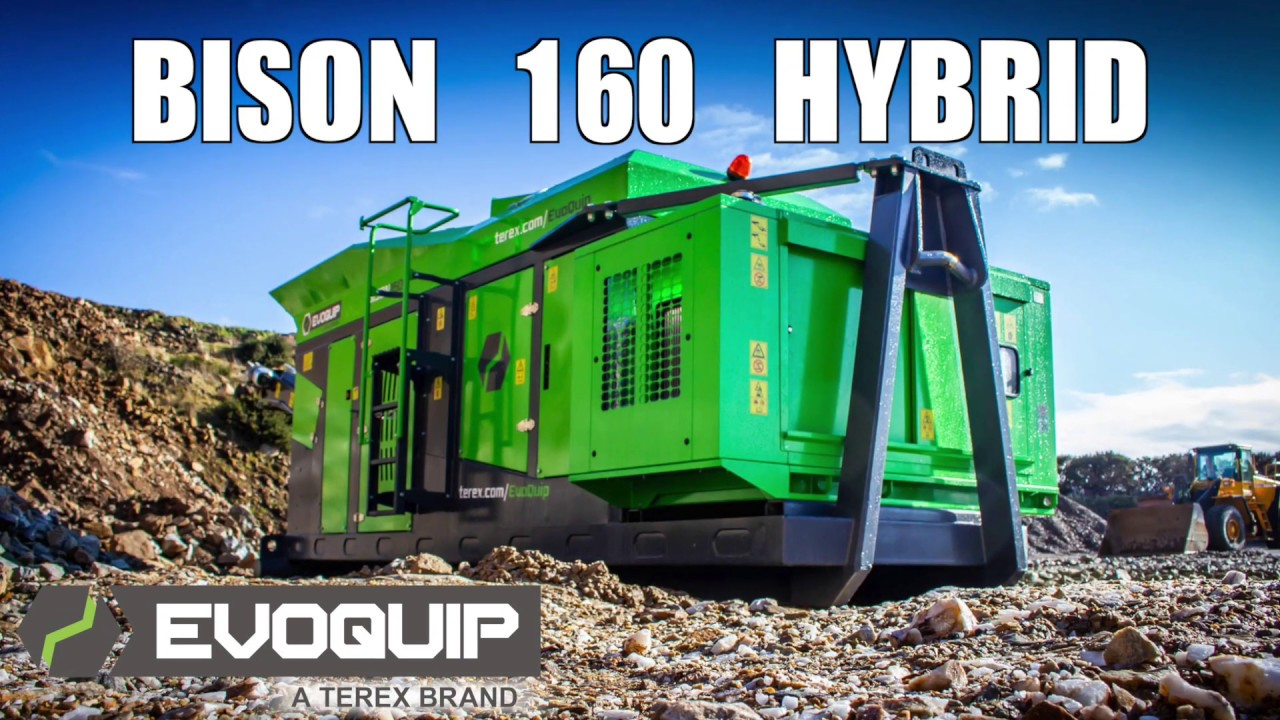 Bison 160 Hybrid Hooklift Jaw Crusher