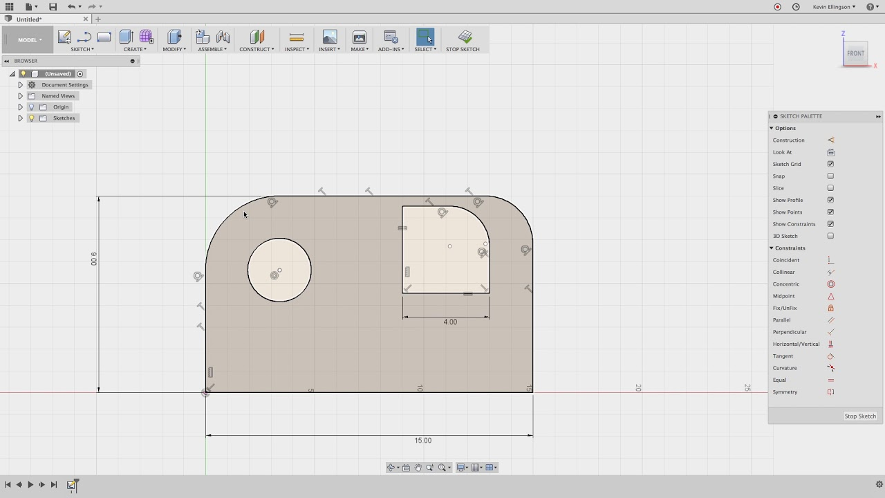 Guide to Fusion 360 Sketch Constraints - NYC CNC