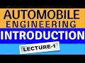 Automobile Engineering # Introduction In Hindi Lecture-1