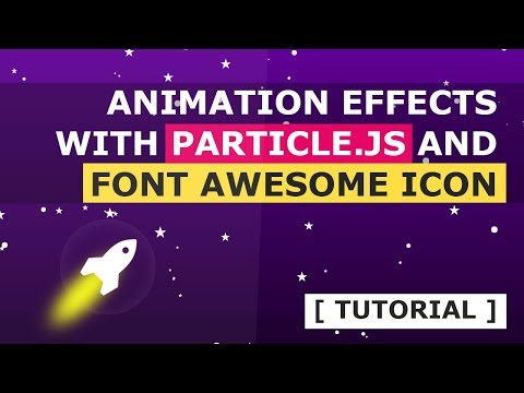 Animated Rocket Web Animation Effects Using Particle.js And FontAwesome Icon - Tutorial