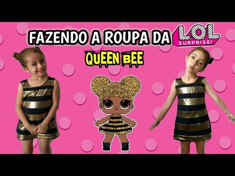 Fazendo A Roupa Da Queen Bee Lol Surprise Youtube