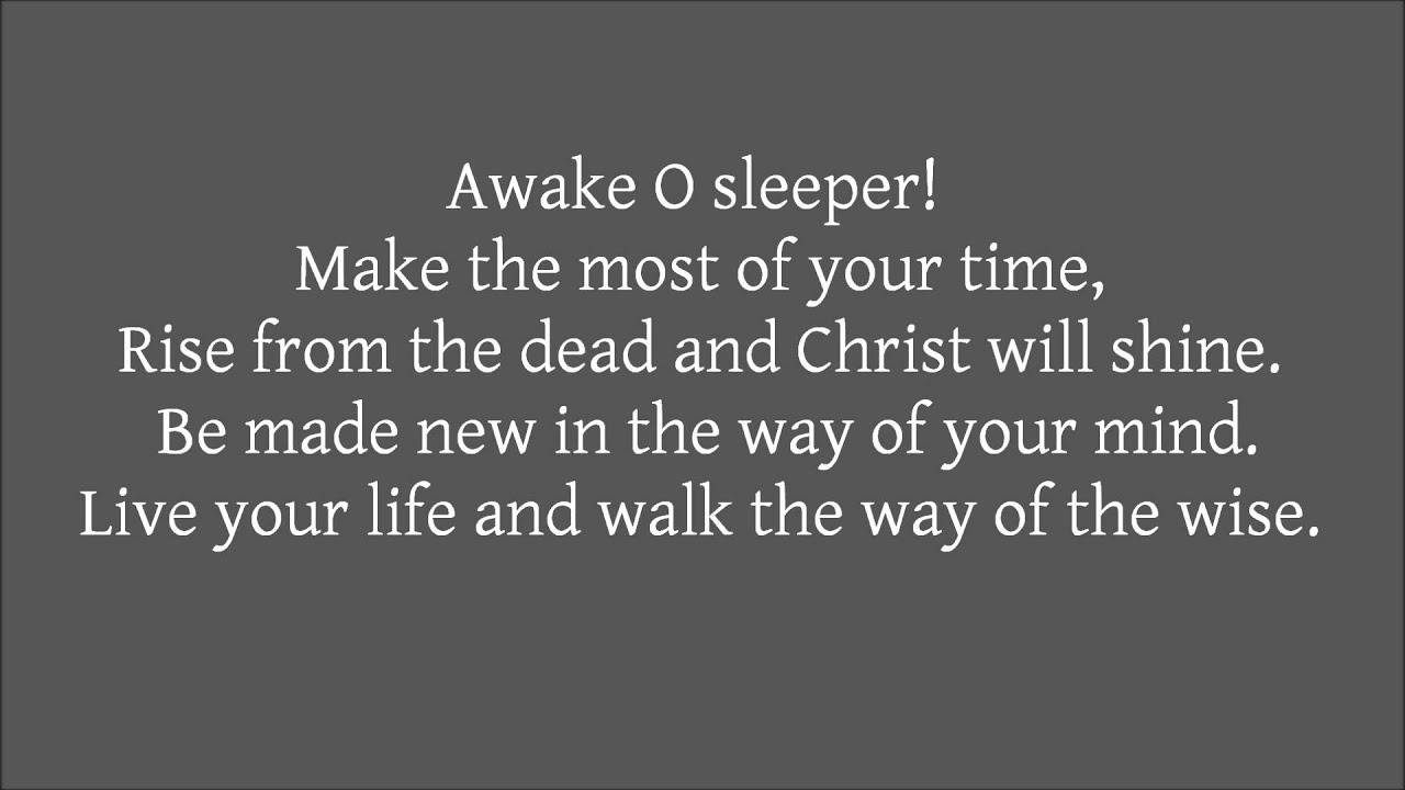 Awake O Sleeper - Matt Nickel