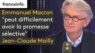 """Emmanuel Macron """"peut difficilement avoir la promesse sélective"""", prévient Jean-Claude Mailly"""