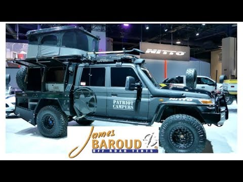 10 second lightning fast setup rooftop tent by James Baroud :SEMA 2017