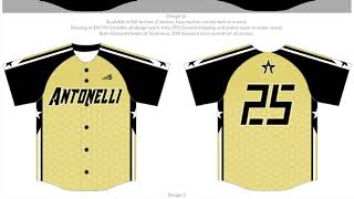 Antonelli Baseball Jersey Selection