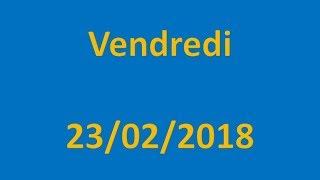 RESULTATS EURO MILLIONS DU 23/02/2018 !