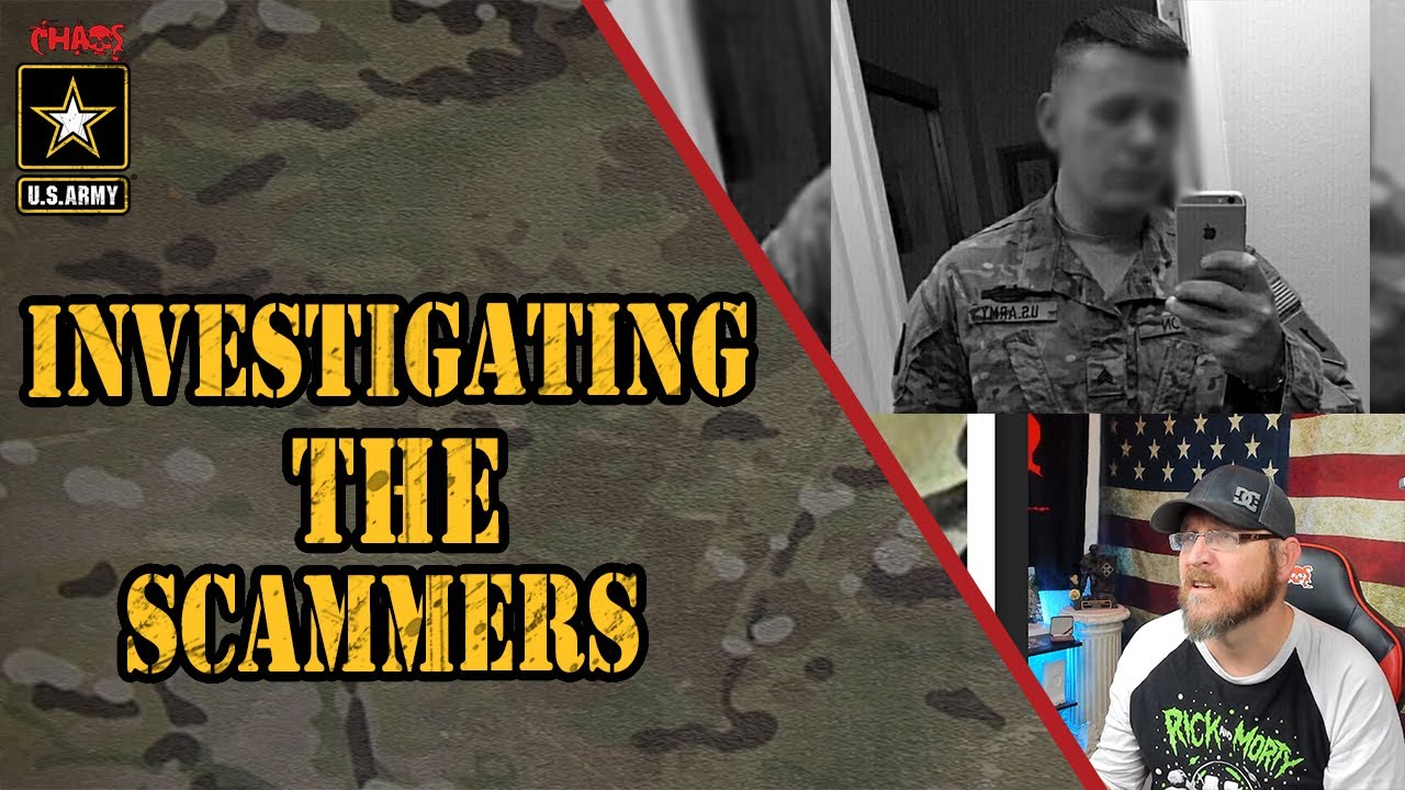Scammers photos army us Military scams