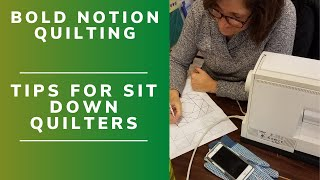 Sit down Free Motion Quilting Tips to get started