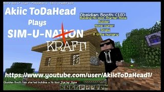Akiic ToDaHead Plays Minecraft Sim U Kraft E7- Patty Cake Bakers Man