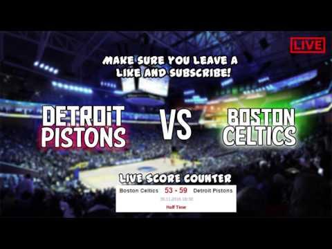 NBA Live Detroit Pistons vs Boston Celtics HD Celtics Vs Pistons 2016 Full Game Live SCORE