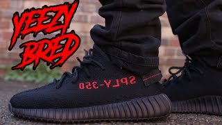 ADIDAS YEEZY BOOST 350 v2 BRED BLACK RED SZ 10 2017